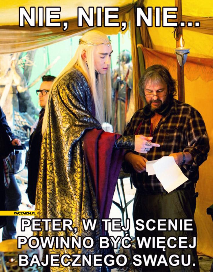 Nie nie nie Peter w tej scenie powinno być więcej bajecznego swagu