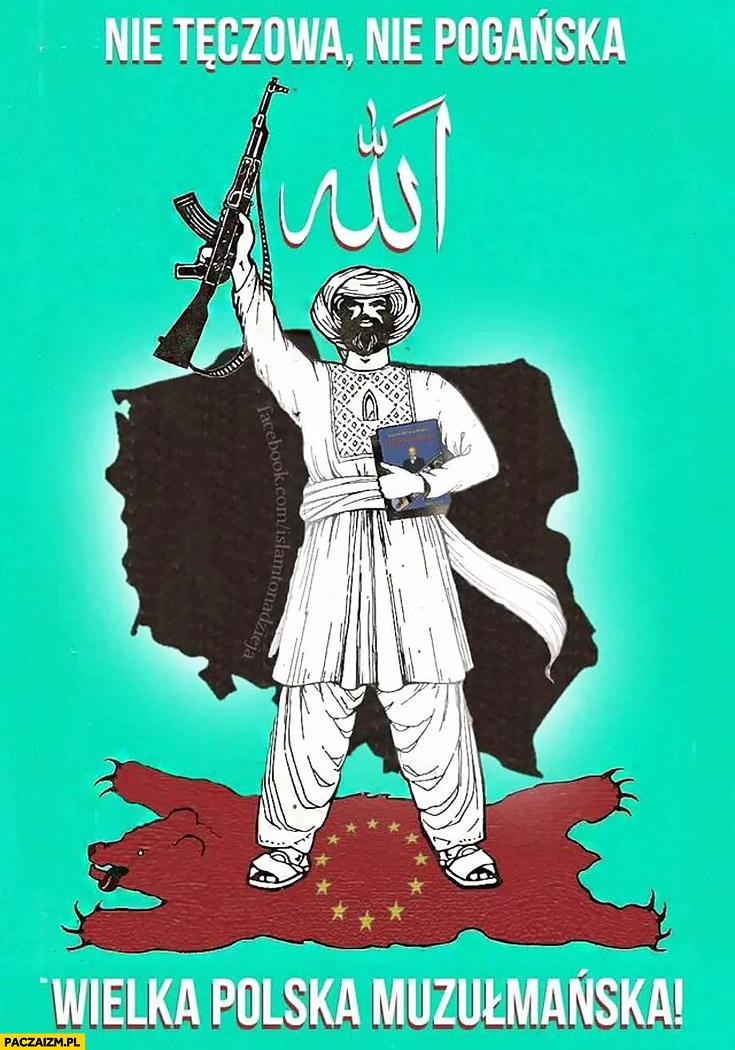Nie tęczowa, nie pogańska, wielka Polska muzułmańska plakat