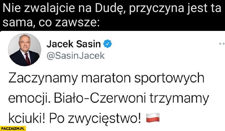 Nie zwalajcie na Dudę przyczyna przegranej jest ta sama co zawsze Jacek Sasin tweet twitter