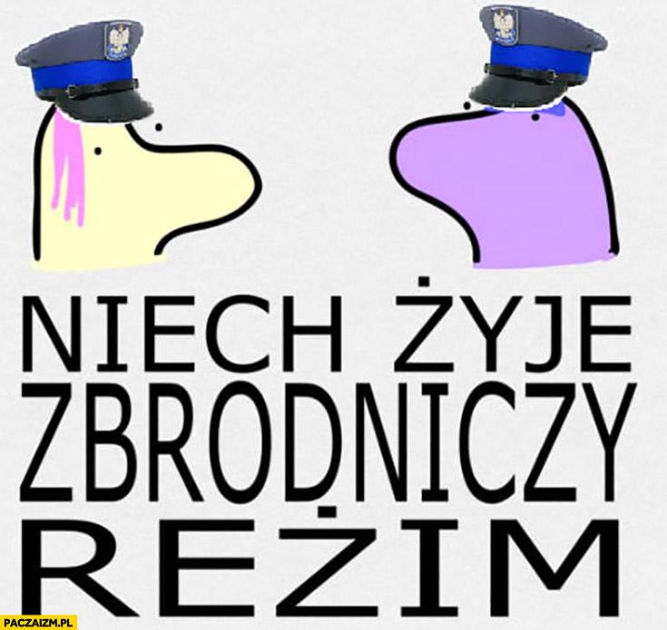 Niech żyje zbrodniczy reżim policja kuce z bronksu
