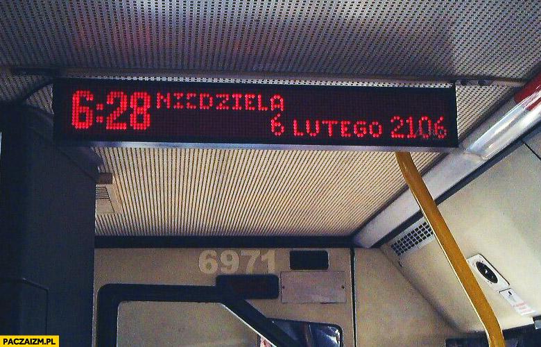 Niedziela 6 lutego 2106 autobus Pruszków