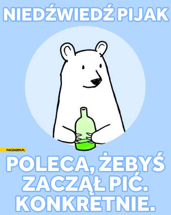 Niedźwiedź pijak poleca żebyś zaczął pić konkretnie