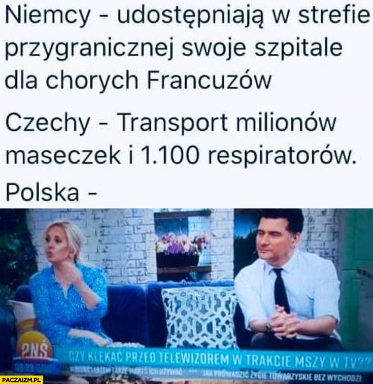 Niemcy Czechy Polska koronawirus porównanie czy klękać przed telewizorem w trakcie mszy świętej?