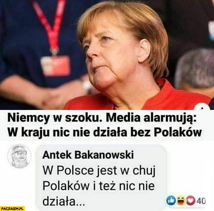 Niemcy w szoku, w kraju nic nie działa bez Polaków, w Polsce jest dużo Polaków i też nic nie działa