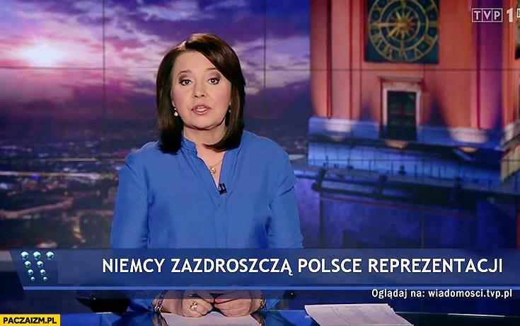 Niemcy zazdroszczą Polsce reprezentacji pasek wiadomości TVP Danuta Holecka