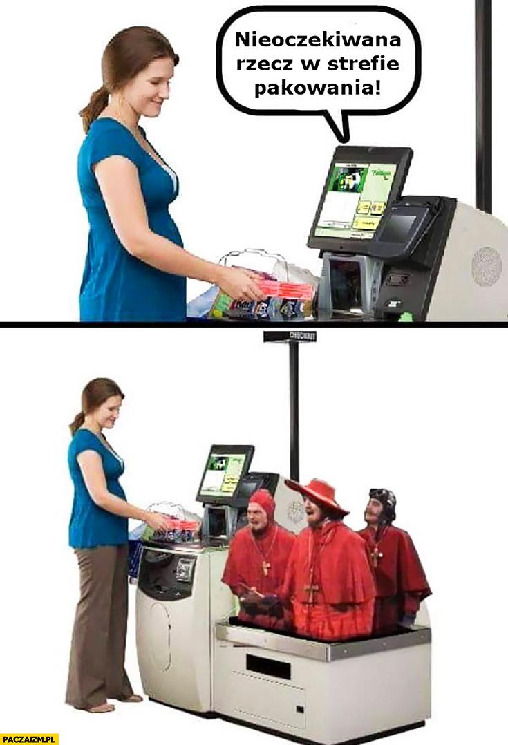 Nieoczekiwana rzecz w strefie pakowania hiszpańska inkwizycja