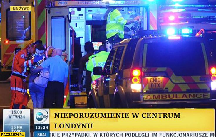 Nieporozumienie w centrum Londynu zamach Wiadomości Fakty TVN