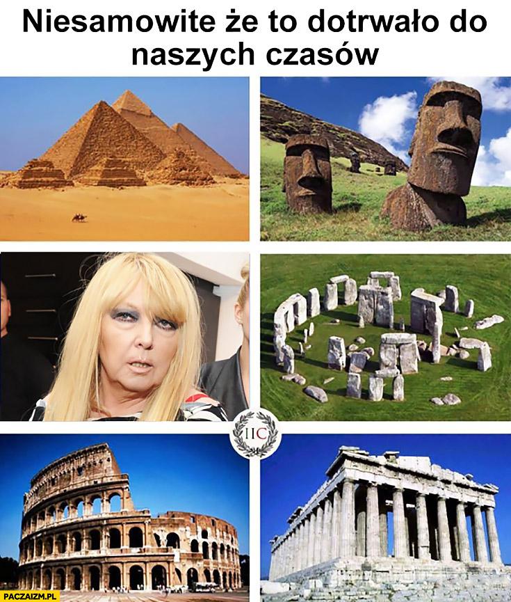 Niesamowite, że to dotrwało do naszych czasów zabytki koloseum piramidy Maryla Rodowicz