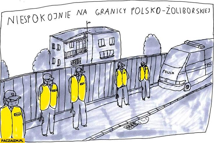 Niespokojnie na granicy polsko-żoliborskiej pod domem Kaczyńskiego Janek Koza
