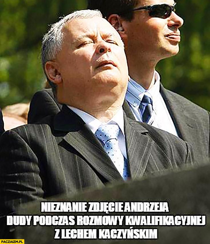 Nieznane zdjęcie Andrzeja Dudy podczas rozmowy kwalifikacyjnej z Lechem Jarosławem Kaczyńskim