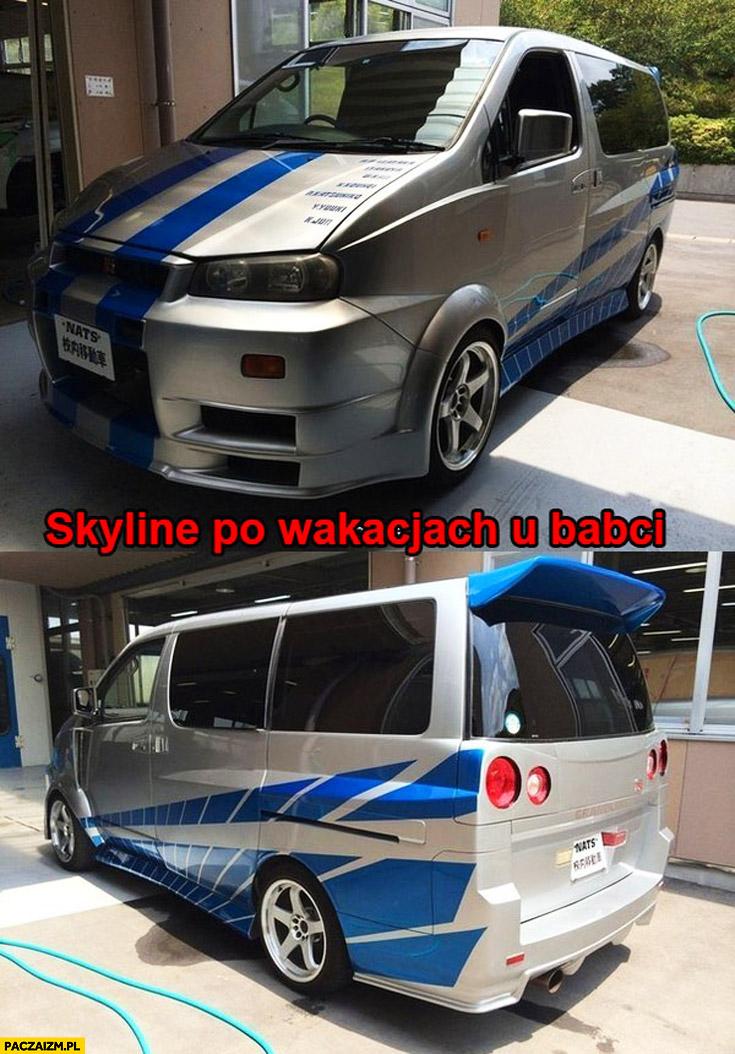 Nissan Skyline po wakacjach u babci Van