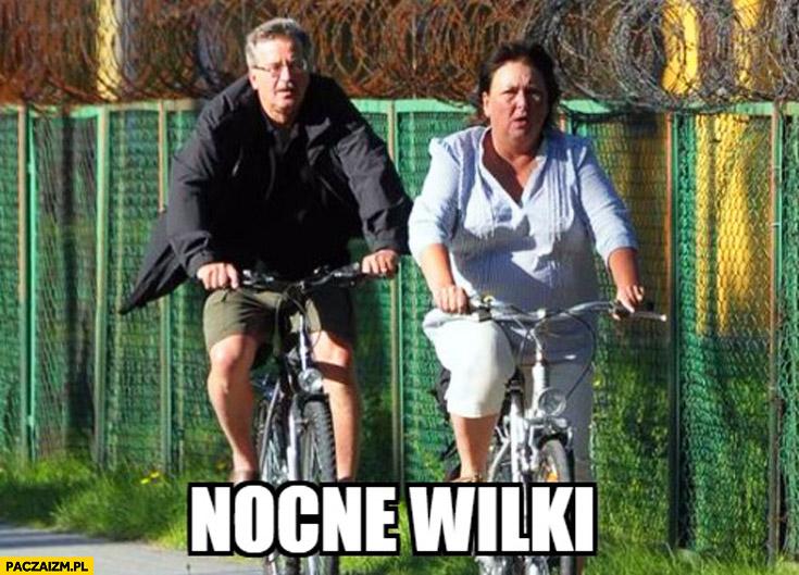 Nocne wilki Komorowski z żoną