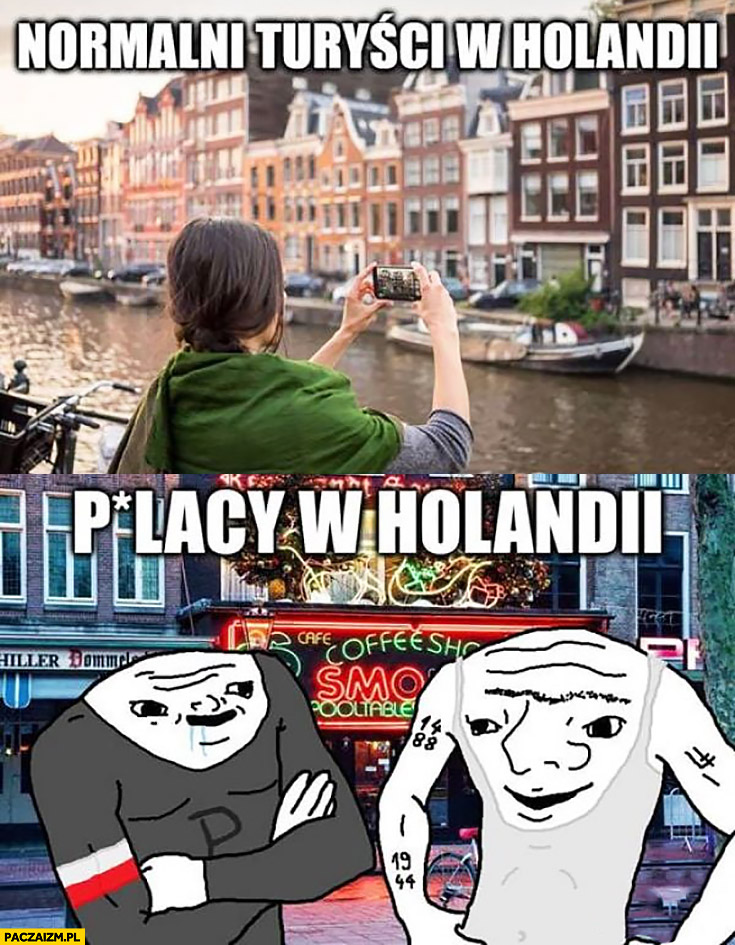Normalni turyści w Holandii vs Polacy w Holandii porównanie