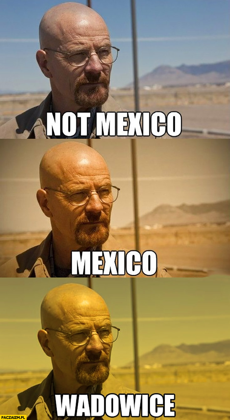 Not Mexico, Mexico, Wadowice kolory Breaking Bad