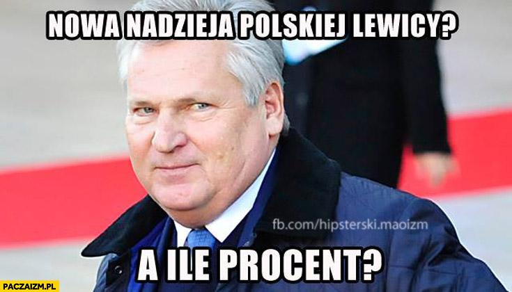 Nowa nadzieja polskiej lewicy? A ile procent? Kwaśniewski