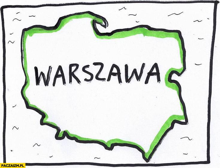 Nowe granice Warszawy cała Polska projekt ustawy PiS