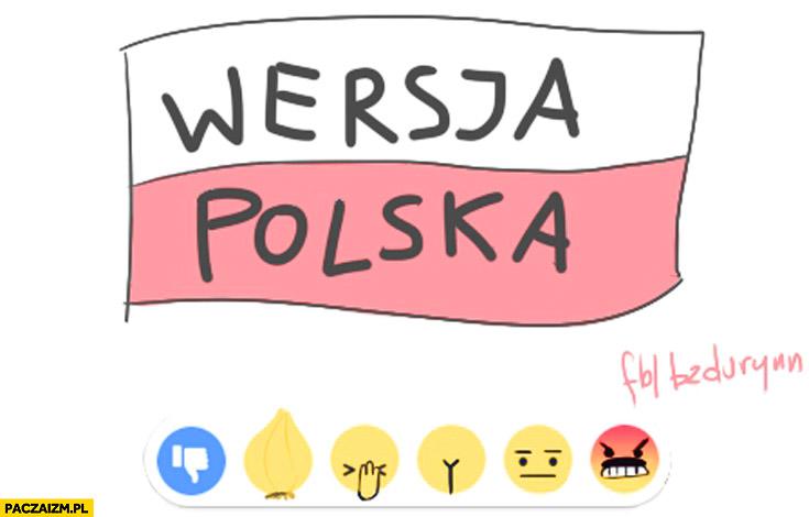 Nowe lajki na facebooku wersja polska cebula facepalm