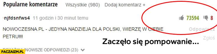 Nowoczesna PL pompowanie ocen łapek na portalach