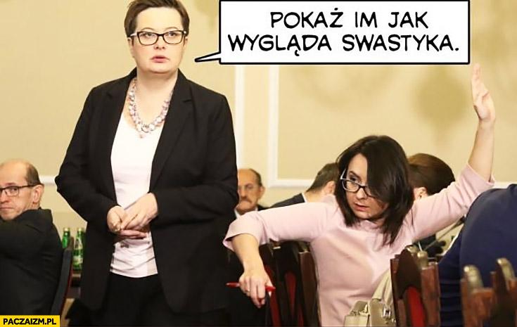 Nowoczesna pokaż jak wygląda swastyka Lubnauer Gasiuk-Pihowicz