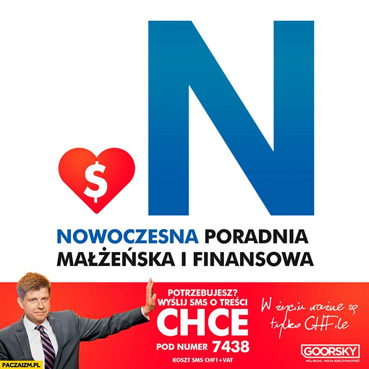 Nowoczesna poradnia małżeńska i finansowa Ryszard Petru wyślij SMS o treści chce Goorsky