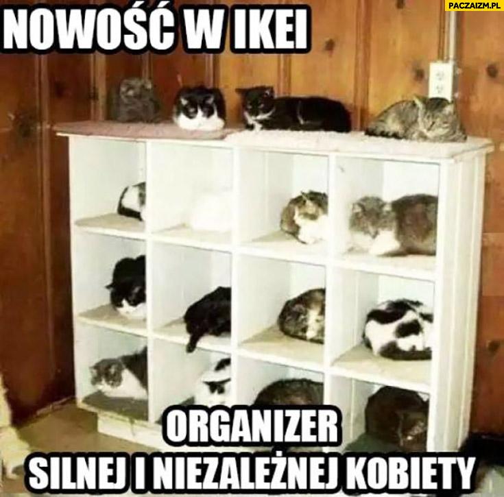 Nowość w Ikei: organizer silnej i niezależnej kobiety koty szafka
