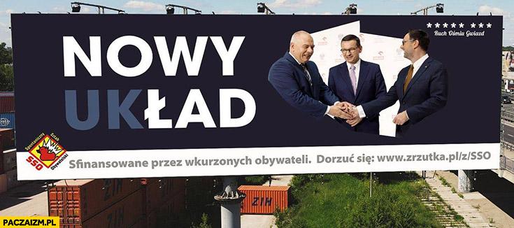 Nowy ład nowy układ billboard reklama