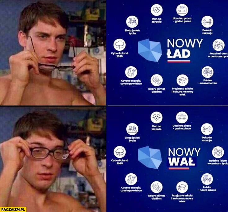 Nowy ład nowy wał po założeniu okularów