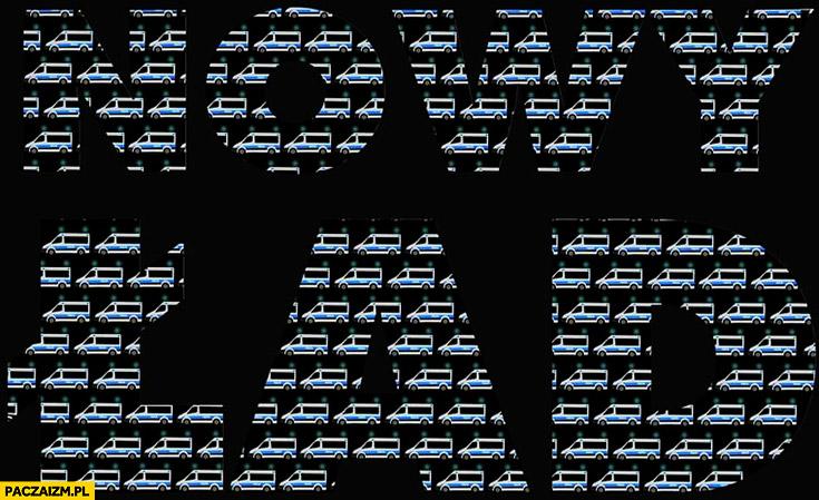 Nowy ład PiS państwo policyjne logo z radiowozów suk policyjnych