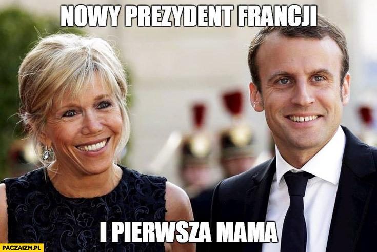 Nowy prezydent Francji i pierwsza mama Macron z żoną