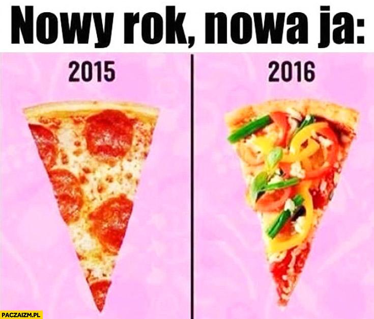 Nowy rok, nowa ja warzywa na pizzy