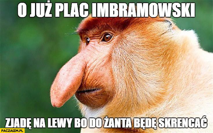 O już plac Imbramowski, zjadę na lewy bo do Żanta będę skręcać typowy Polak nosacz Kraków