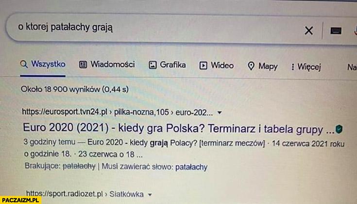 O której patałachy graja reprezentacja polski wyszukiwanie google