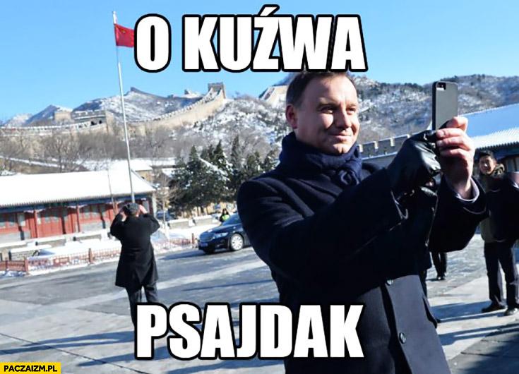 O kuźwa Psajdak. Andrzej Duda Psyduck Pokemon GO