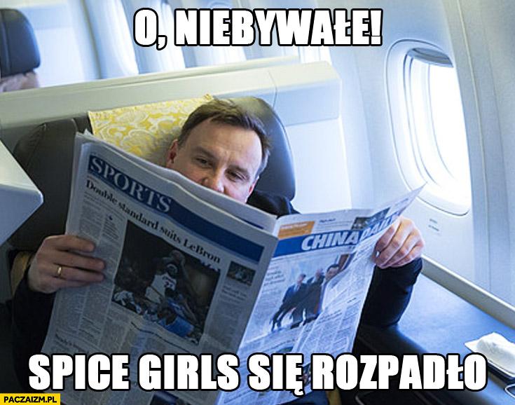 O, niebywałe, Spice Girls się rozpadło Duda Cenzoduda