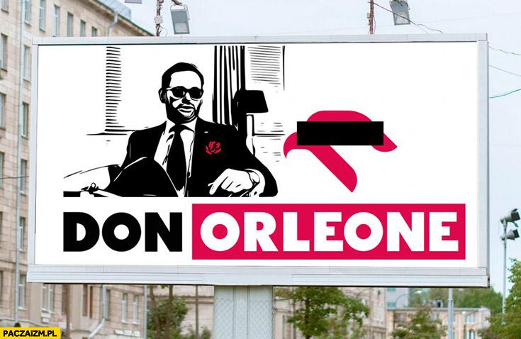 Obajtek don Orleone Orlen billboard reklama