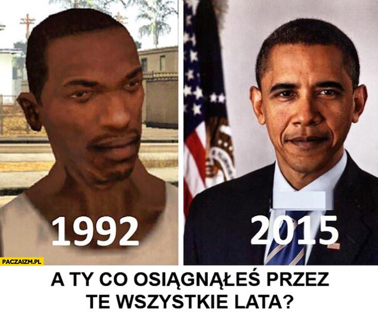 Obama w 1992 vs 2015. A Ty co osiągnąłeś przez te wszystkie lata? GTA