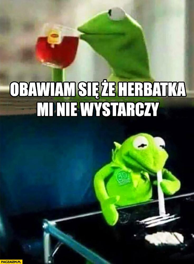 Obawiam się, że herbatka mi nie wystarczy amfetamina Kermit żaba