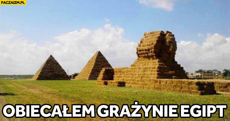 Obiecałem Grażynie Egipt sfinks piramidy z siana