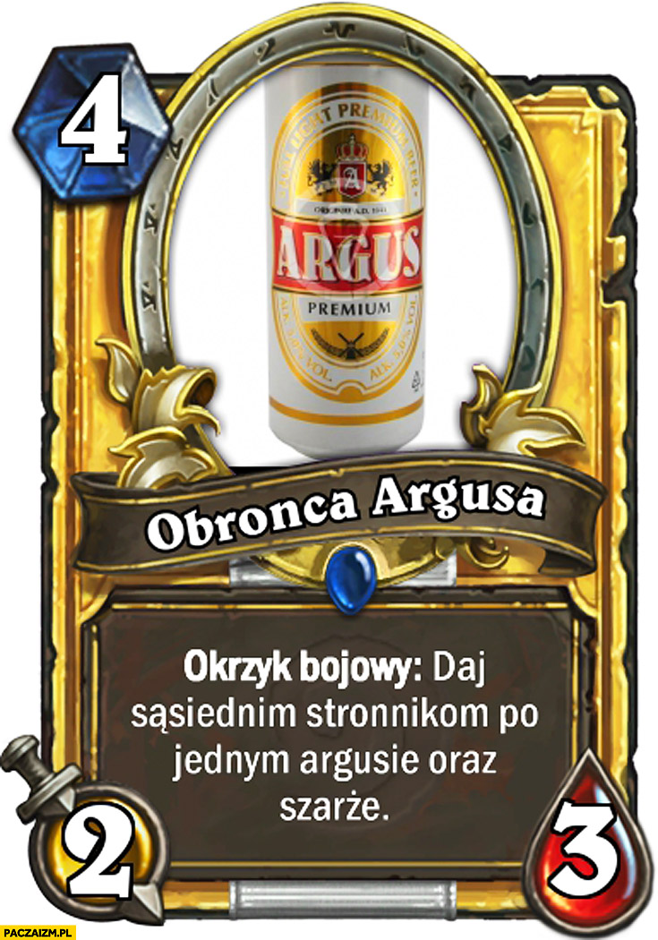 Obrońca Argusa okrzyk bojowy daj stronnikom po jednym Argusie oraz szarżę