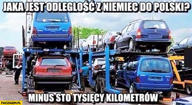 Odległość z Niemiec do polski minus sto tysięcy kilometrów przekręcanie licznika