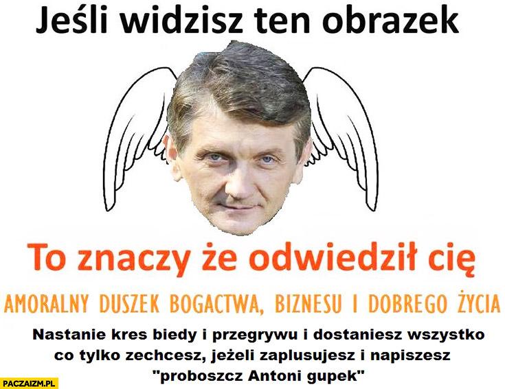 Odwiedził Cię amoralny duszek bogactwa biznesu i dobrego życia Janusz Tracz Plebania