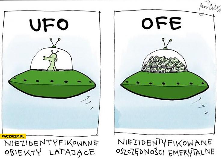 OFE niezidentyfikowane oszczędności emerytalne UFO