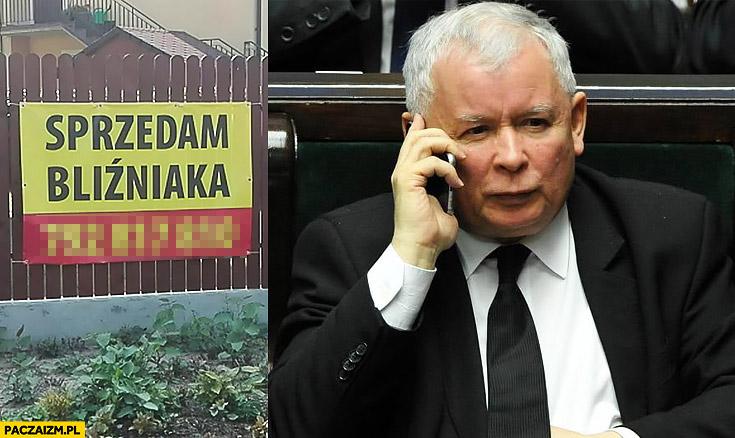 Ogłoszenie sprzedam bliźniaka Kaczyński dzwoni