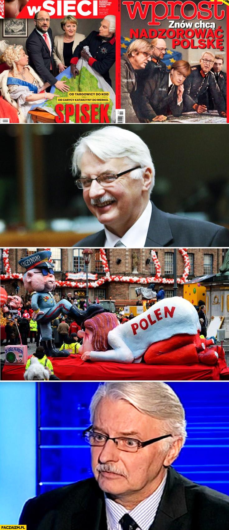 Okładka W Sieci, Wprost – OK, nabijanie się z Kaczyńskiego – źle Waszczykowski