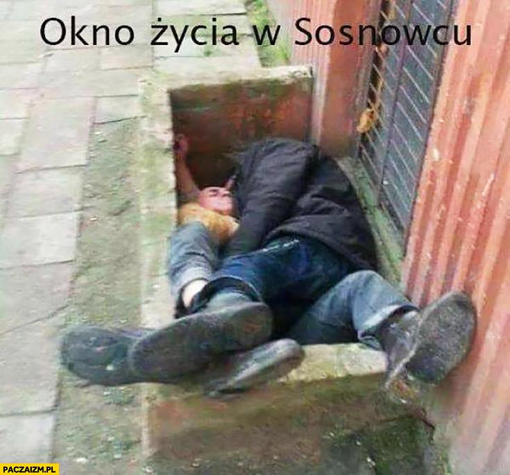 Okno życia w Sosnowcu pijaki żule menele