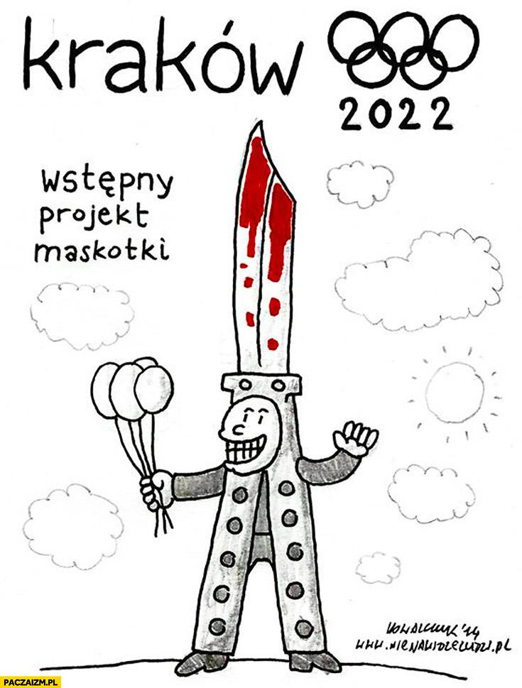 Olimpiada Kraków projekt maskotki maczeta