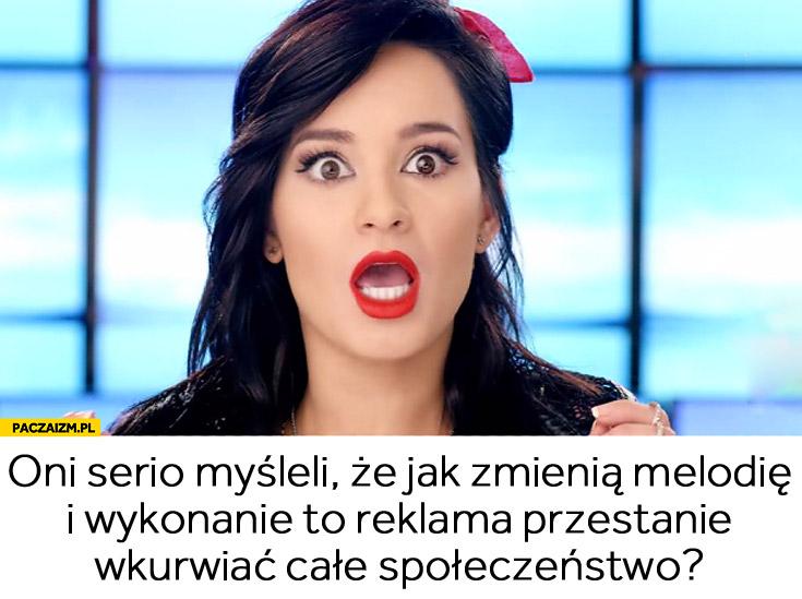 Oni serio myśleli że jak zmienią melodię to reklama przestanie wkurwiac społeczeństwo Lisowska włączone niskie ceny