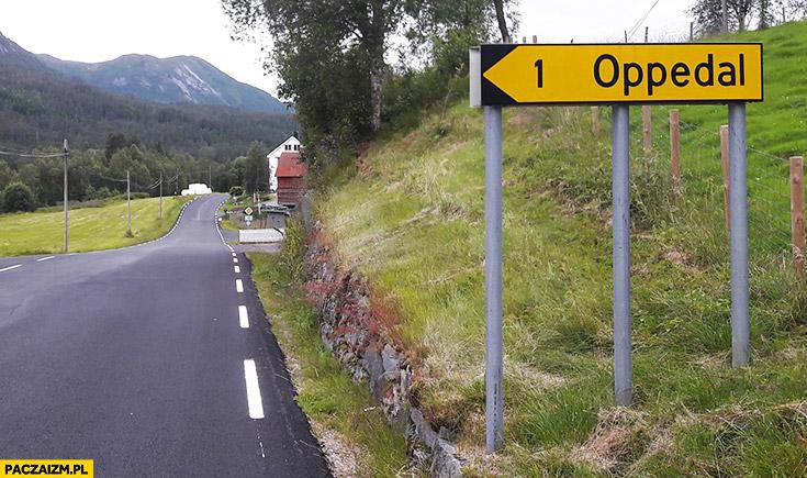 Oppedal OP to pedał tabliczka nazwa miejsca miejscowości