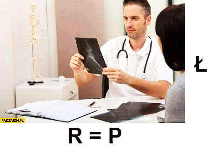 Ortopeda rebus OP to pedał