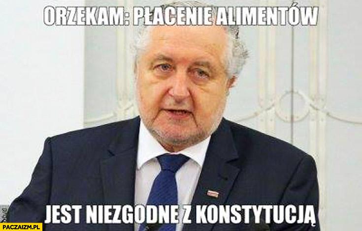 Orzekam płacenie alimentów jest niezgodne z konstytucją Rzepliński prezes trybunału
